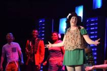"""""""Godspell"""" by Stephen Schwartz and John-Michael Tebelak, at Trustus Theatre in Columbia, S.C., through Apr. 11. Pictured: Chase W. Nelson, Mario McClean, Shannon Nicole and Kayla Cahill."""