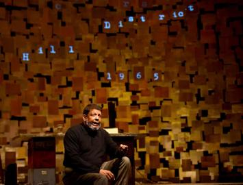"""""""How I Learned What I Learned,"""" conceived by Todd Kreidler from the writings of August Wilson, at Pittsburgh Public Theatre through Apr. 5. Pictured: Eugene Lee."""