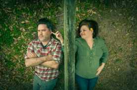 """""""Outside Mullingar"""" by John Patrick Shanley, at PURE Theater in Charleston, S.C., through March 28. Pictured: David Mandel and Erin Wilson."""