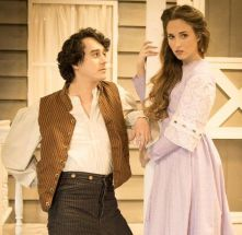 """""""Romeo and Juliet"""" by William Shakespeare, at OpenStage Theatre Company in Fort Collins, Colo., through Apr. 25. Pictured: Kiernan Angley and Abbey Featherston. (Photo by Kate Austin-Groen Photography)"""