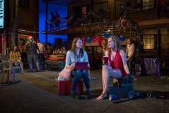 """Carolyn Braver and Caroline Neff in Lisa D'Amour's """"Airline Highway"""" at Steppenwolf Theatre Company. (Photo by Michael Brosilow)"""