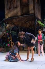 """Mojada: A Medea in Los Angeles"" by Luis Alfaro, at Oregon Shakespeare Festival in Ashland, Ore., through July 6. Pictured: Vilma Silva, Sabina Zuniga Varela, and VIVIS. (Photo by Jenny Graham)"
