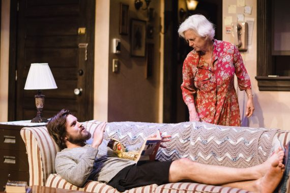 """4,000 Miles"" by Amy Herzog, a Cadence Theatre Company production at Virginia Repertory Theatre in Richmond, Va., through May 21. Pictured: Johnny Day and Irene Ziegler."