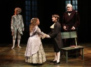 """""""A Christmas Carol"""" adapted by Howard Dallin from Dickens, at Cincinnati Playhouse in the Park through Dec. 30. Pictured: Kathleen Wise, Livvy Stubenrauch, Austin Vaughan, and Bruce Cromer. (Photo by Mikki Schaffner)"""