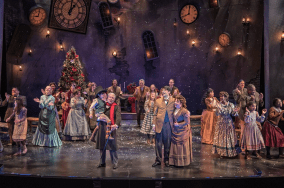 """""""A Christmas Carol"""" adapted by Dave Steakley from Dickens, at ZACH Theatre in Austin through Dec. 28. (Photo by Kirk Tuck)"""