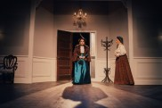 """""""A Doll's House, Part 2"""" by Lucas Hnath, at Stage West in Fort Worth, Texas, through Nov. 25. Pictured: Shannon McGrann and Judy Keith ."""