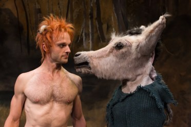 """""""A Midsummer Night's Dream"""" by William Shakespeare, at Alley Theatre in Houston through Nov. 5. Pictured: Jay Sullivan and James Black. (Photo by Lynn Lane)"""