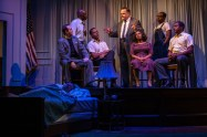 """""""All the Way"""" by Robert Schenkkan, at TheatreSquared in Fayetteville, Ark., through Sept. 18. Pictured: Mitch Tebo and cast. (Photo by Wesley Hitt)"""