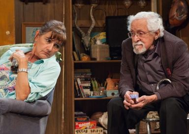 """Bakersfield Mist"" by Stephen Sachs, at TimeLine Theatre Company in Chicago, through Oct. 15. Pictured: Janet Ulrich Brooks and Mike Nussbaum."
