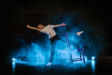 """""""Billy Elliot,"""" by Elton John and Lee Hall, at Phoenix Theatre through Dec. 24. Pictured: Seth Judice. (Photo by Reg Madison Photography)"""