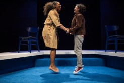 """""""Bright Half Life"""" by Tanya Barfield, an About Face Theatre production at Theater Wit in Chicago through July 1. Pictured: Patrese McClain and Elizabeth Ledo. (Photo by Michael Brosilow)"""