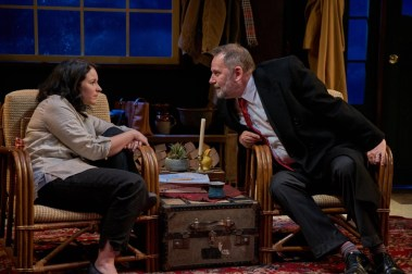 """Clean Alternatives"" by Brian Dykstra, at Kitchen Theatre Company in Ithaca, N.Y., through June 18. Pictured: Lori Prince and Brian Dykstra."