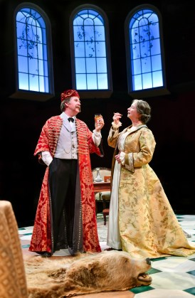 """""""Dear Master"""" by Dorothy Bryant, at Aurora Theatre Company in Berkeley, Calif., through Oct. 2. Pictured: Michael Ray Wisely and Kimberly King. (Photo by David Allen)"""