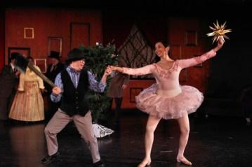 """Edgar Allan Poe's Nutcracker (the un-ballet)"" by the ensemble at Interact Center in St. Paul, Minn. through Dec. 19. Pictured: Joe Blegen and Colette Illarde. (Photo by Scott Pakudaitis)"