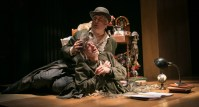 """""""Falling Out of Time"""" adapted by Derek Goldman from David Grossman, at Theater J in Washington, D.C., through April 17. Pictured: Michael Russotto and Edward Christian."""