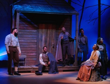 """""""Father Comes Home From the Wars (Parts 1, 2 & 3)"""" by Suzan-Lori Parks, at Actor's Express in Atlanta through June 11. (Photo by Christopher Bartelski)"""