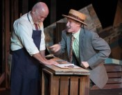 """""""Food, Clothing, Shelter"""" by Bo Wilson, at Firehouse Theatre in Richmond, Va., through Sept. 17. Pictured: Frank Creasy and Bartley Mullin."""
