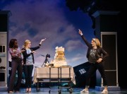 """""""Freaky Friday,"""" by Bridget Carpenter, Tom Kitt, and Brian Yorkey, at Alley Theatre in Houston through July 2. Pictured: Jeannette Bayardelle, Alet Taylorand, and Heidi Blickenstaff. (Photo by Jim Carmody)"""