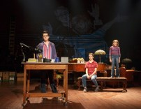 """""""Fun Home,"""" by Jeanine Tesori and Lisa Kron, at 5th Avenue Theatre in Seattle through July 30. Pictured: Kate Shindle, Abby Corrigan, and Carly Gold."""
