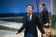 """""""Great Expectations,"""" adapted by Robert Ford from Charles Dickens, at TheatreSquared in Fayetteville, Ark., through Jan. 1. Pictured: Mason Azbill and Kieran Cronin. (Photo by Wesley Hitt)"""
