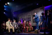 """Guys and Dolls,"" by Jo Swerling, Abe Burrows, and Frank Loesser, at Finger Lakes Musical Theatre Festival in Auburn, N.Y., through June 28. Pictured: Jefferson Behan and cast."
