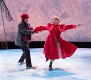 """""""Hans Brinker and the Silver Skates"""" by Laura Eason, at Arden Theatre Company in Philadelphia through Jan. 31. Pictured: Matteo Scammell and Lauren Hirte. (Photo by Mark Garvin)"""