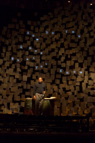 """""""How I Learned What I Learned"""" by August Wilson, at Huntington Theatre Company in Boston, through April 3. Pictured: Eugene Lee. (Photo by T. Charles Erickson)"""