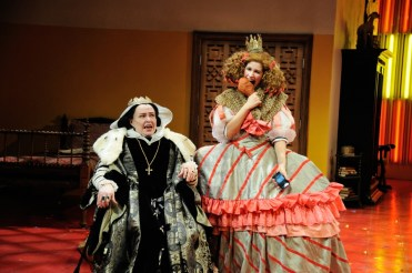 """""""The Hunchback of Seville"""" by Charise Castro Smith, at Trinity Repertory Company in Providence, R.I., through March 4. Pictured: Janice Duclos and Nicole Villamil. (Photo by Mark Turek)"""