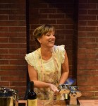 """""""I Loved, I Lost, I Made Spaghetti,"""" adapted by Jacques Lamarre from Giulia Melucci, at Florida Repertory Theatre in Fort Myers, Fla., through Nov. 1. Pictured: Michelle Damato."""