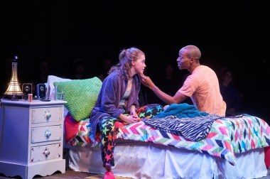 """""""I and You"""" by Lauren Gunderson, at Aurora Theatre in Lawrenceville, Ga., through Feb. 21. Pictured: Devon Hales and J.L. Reed. (Photo by Chris Bartelski)"""