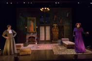 """""""The Mystery of Irma Vep"""" by Charles Ludlam, at Indiana Repertory Theatre in Indianapolis thorugh Feb. 14. Pictured: Marcus Truschinski and Rob Johansen. (Photo by Zach Rosing)"""