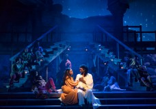 """""""Jesus Christ Superstar,"""" by Andrew Lloyd Webber and Tim Rice, at Paramount Theatre in Aurora, Ill., through May 28. Pictured: Felicia Boswell and Evan Tyrone Martin. (Photo by Liz Lauren)"""