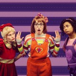 """Junie B. Jones Is Not a Crook,"" adapted by Allison Gregory from Barbara Park, at Children's Theatre of Charlotte in Charlotte, N.C. Pictured: Leslie Ann Giles, Kayla Piscatelli, and Ericka Ross."