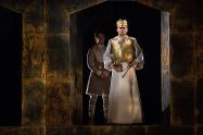"""""""Richard II"""" by Shakespeare, at the Old Globe in San Diego through July 15. Pictured: Jake Horowitz and Robert Sean Leonard. (Photo by Jim Cox)"""