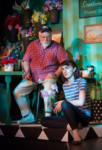 """""""Let's Live A Little"""" by Kathleen Clark, at Invisible Theatre Company in Tucson, Ariz., through April 30. Pictured: Jack Neubeck and Lucille Petty. (Photo by Tim Fuller)"""
