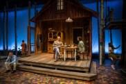 """Life Sucks"" by Aaron Posner, at Lookingglass Theatre in Chicago through Nov. 6. Pictured: Eddie Jemison, Barbara Robertson, Jim Ortlieb, Danielle Zuckerman, Penelope Walker. (Photo by Liz Lauren)"