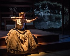 """Listen for the Light"" by Kara Lee Corthron, at Know Theatre of Cincinnati through May 13. Pictured: Tess Talbot. (Photo by Dan R. Winters Photography)"