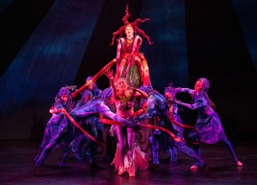 """""""The Little Mermaid,"""" adapted by Janet Stanford from Hans Christian Andersen, with music by Matthew Pierce. A coproduction with the Washington Ballet at Imagination Stage in Bethesda, Md., through Aug. 14. (Photo by Margot Schulman)"""