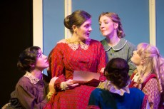 """Haley Landers, Braden Hunt, Ric Hodgin, Connor Lyon, Shondra Marie, Shanae'a Moore, Eric Domuret, Patti Lozano, Amanda Parker, and William Burke in """"Little Women: The Musical,"""" by Louisa May Alcott, Allan Knee, Jason Howland, and Mindi Dickstein, at A.D. Players Theatre in Houston through July 10. (Photo by Jeff McMorrough-Bara Photography)"""