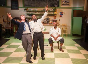 """Master Harold...and the boys"" by Athol Fugard, at Aurora Theatre Company in Berkeley, Calif., through July 17. Pictured: Andrew Humann, L. Peter Callender, and Adrian Roberts."