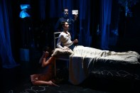 """""""Mata Hari,"""" by Matt Marks and Paul Peers, at the Prototype 2017 Festival at HERE in New York City. (Photo by Paula Court)"""