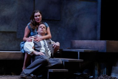"""""""A Moon for the Misbegotten"""" by Eugene O'Neill, at Geva Theatre Center in Rochester, N.Y., through April 24. Pictured: Donald Sage Mackay and Kate Forbes. (Photo by Ron Heerkens, Jr.)"""