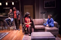 """""""Mothers and Sons"""" by Terrence McNally, at Cincinnati Playhouse in the Park in Cincinnati, Ohio, through April 17. Pictured: Ben Cherry, Alvin Keith, Stephanie Berry, and Austin Vaughan. (Photo by Mikki Schaffner)"""