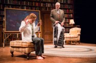 """""""Mr. Wolf,"""" by Rajiv Joseph, at Cleveland Play House in Cleveland, through April 24. Pictured: Juliet Brett and John de Lancie. (Photo by Roger Mastroianni)"""