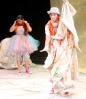"""""""Paper Dreams"""" by Claudia Moreso, at Imagination Stage in Bethesda, Md., through April 9. Pictured: Sara Herrera and Anna Lynch. (Photo be Shea Bartlett)"""