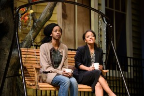 """Proof"" by David Auburn, at True Colors Theatre Company in Atlanta through Nov. 20. Pictured: Fedna Jacquet and Tinashe Kajese. (Photo by Greg Mooney)"