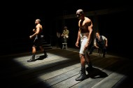 """""""Royale"""" by Marco Ramirez, at City Theatre in Pittsburgh, through Feb. 12. Pictured: Bernard Gilbert, Tim Edward Rhoze, Desean Kevin Terry, and Andrew William Smith. (Photo by Kristi Jan Hoover)"""