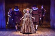 """""""Shakespeare in Love,"""" adapted by Lee Hall from Marc Norman and Tom Stoppard, at Cincinnati Playhouse in the Park, through Sept. 30. Pictured: Naomi Jacobson and cast. (Photo by Mikki Schaffner Photography)"""