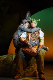 """Shrek The Musical,"" by David Lindsay-Abaire and Jeanine Tesori, at Connecticut Repertory Theatre in Storrs, Conn., through April 30. Pictured: Scott Redmond and Will Mann . (Photo by Gerry Goodstein)"