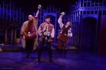 """""""Skullduggery: The Musical Prequel to Hamlet"""" by Michael Shaw Fisher, at Sacred Fools Theater Company in Los Angeles, through Nov. 19. Pictured: Jeff Sumner, Matt Valle, and Cj Merriman. (Photo by Jessica Sherman Photography)"""